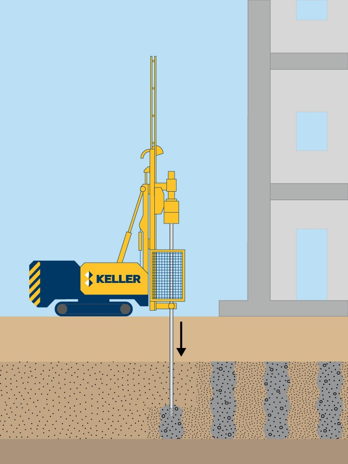 Compaction grouting illustration